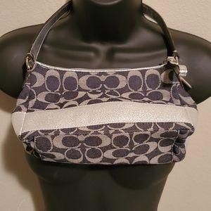 Coach Mini Bag Silver/Denim Blue Like New